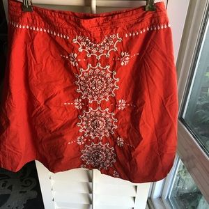 Anthropologie Coral Beaded Skirt , By Lithe Brand